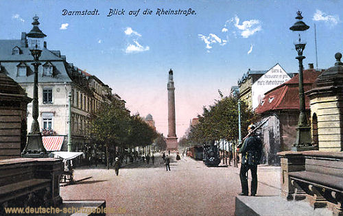 Darmstadt, Blick auf die Rheinstraße