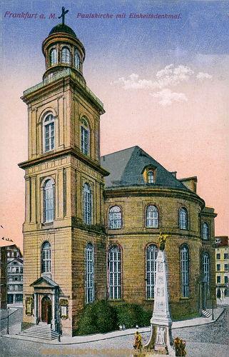 Frankfurt a. M., Paulskirche mit Einheitsdenkmal