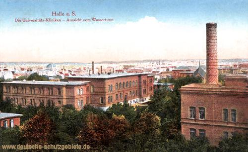 Halle. a. d. S., Die Universitäts-Kliniken - Aussicht vom Wasserturm