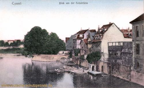Kassel, Blick von der Fuldabrücke
