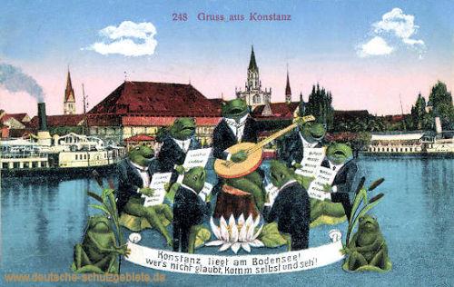 Konstanz liegt am Bodensee...