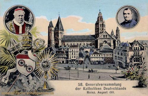 Mainz, 58. Generalversammlung der Katholiken Deutschlands August 1911