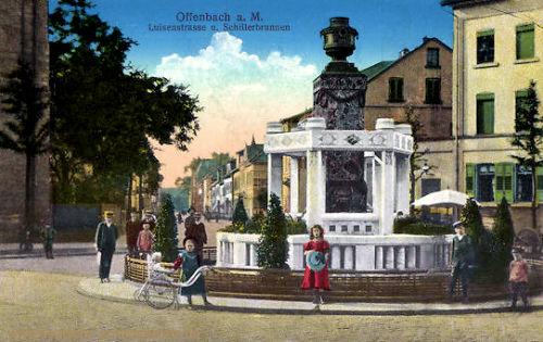 Offenbach am Main, Luisenstraße und Schillerbrunnen