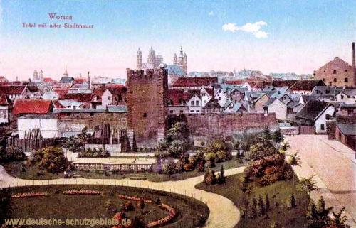 Worms, Total mit alter Stadtmauer