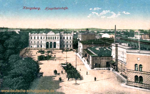 Königsberg i. P., Hauptbahnhöfe