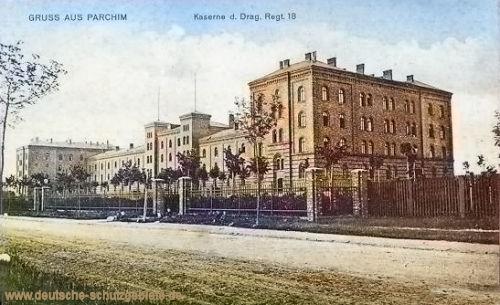 Parchim, Kaserne des Dragoner-Regiments 18
