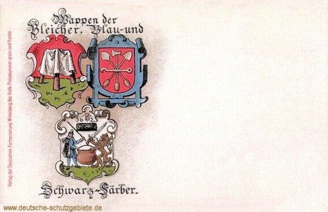 Wappen der Bleicher, Blau- und Schwarz-Färber