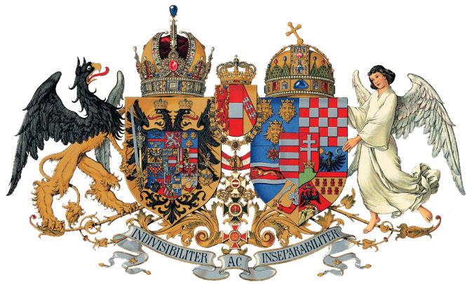 Österreich-Ungarn, das mittlere gemeinsame Wappen