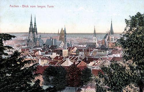 Aachen, Blick vom langen Turm