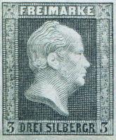 Briefmarke 3 Silbergroschen Preußen 1859, König Friedrich Wilhelm IV.