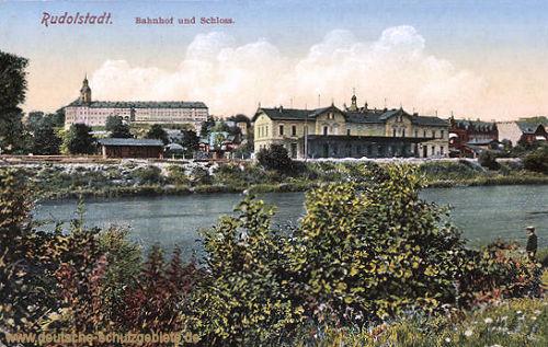 Rudolstadt, Bahnhof und Schloss