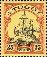 Togo Nr. 11, 25 Pfennig