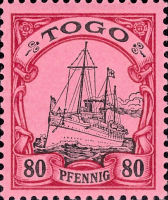 Togo Nr. 15, 80 Pfennig