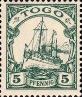 Togo Nr. 21, 5 Pfennig
