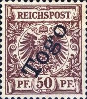Togo Nr. 6, 50 Pfennig