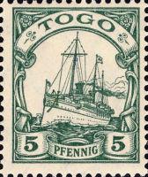 Togo Nr. 8, 5 Pfennig