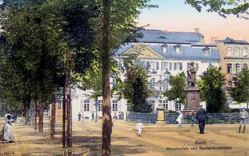 Bonn, Münsterplatz und Beethovendenkmal