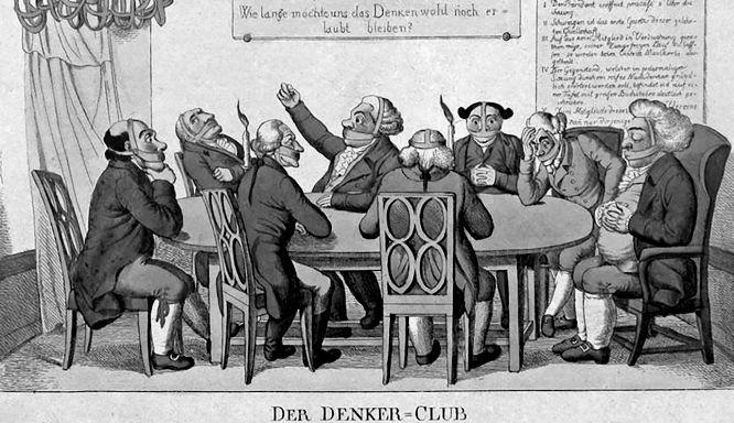 Der Denker-Club. Wie lange möchte uns das Denken wohl noch erlaubt bleiben?