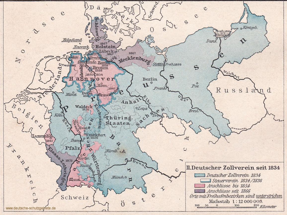 Deutscher Zollverein seit 1834