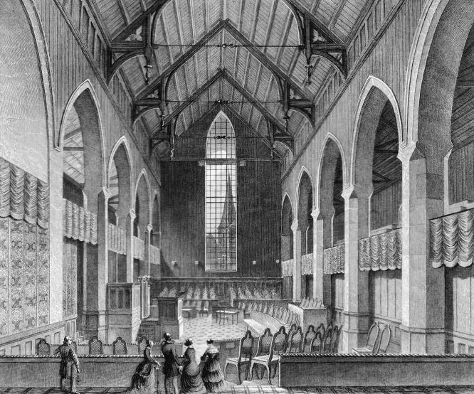Das Volkshaus des Deutschen Parlaments in der Augustiner Kirche zu Erfurt 1850