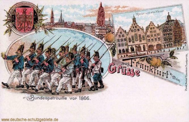 Frankfurt a. M. Bundespatrouille vor 1866