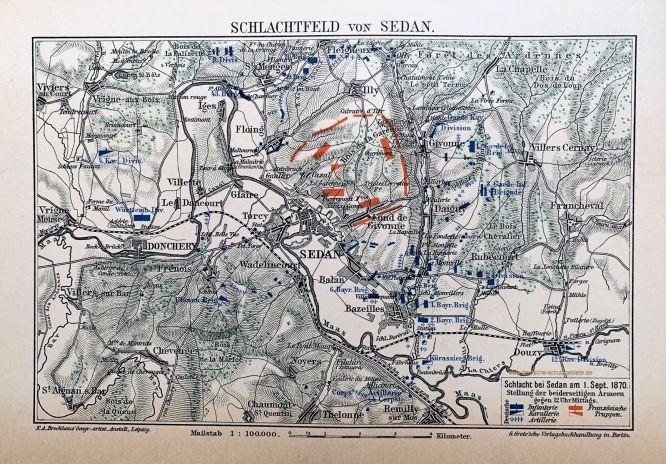 Schlacht bei Sedan am 1. September 1870