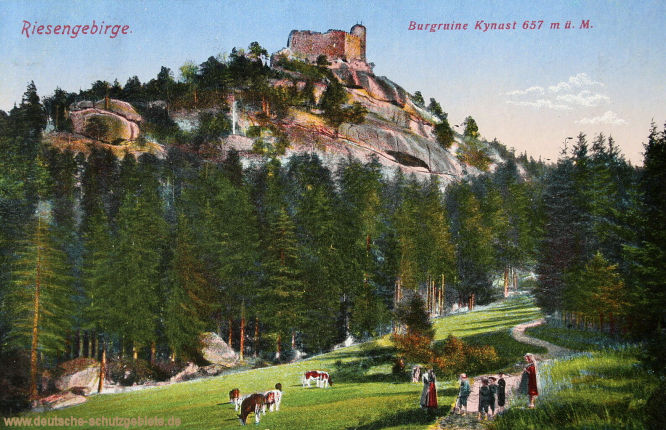 Riesengebirge. Burgruine Kynast, 657 m ü. M.