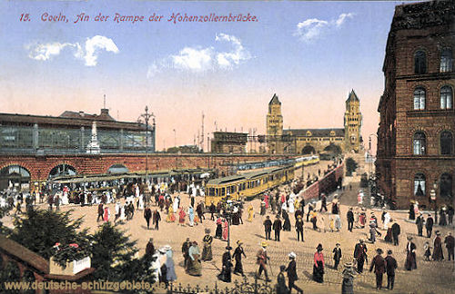 Köln. An der Rampe der Hohenzollernbrücke