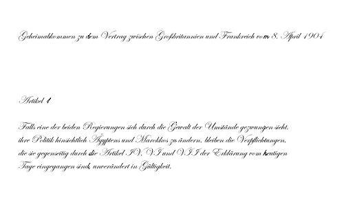 Geheimabkommen 1904