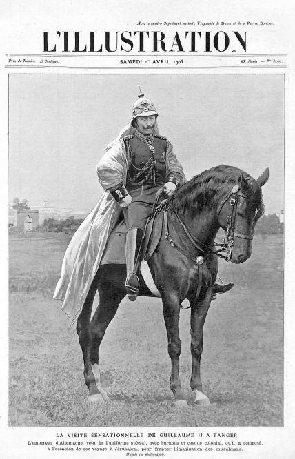 """""""Die sensationelle Reise Kaiser Wilhelms II. nach Tanger"""", L'ILLUSTRATION 1. April 1905"""