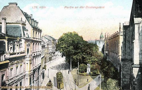 Köln, Partie an der Drususgasse