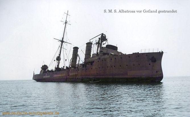 S.M.S. Albatross vor Gotland (Schweden) gestrandet