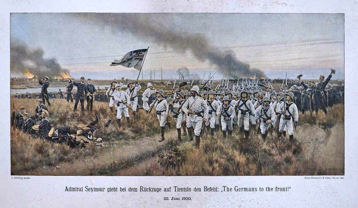 """""""The Germans to the front!"""" nach einem Gemälde von Carl Röchling"""