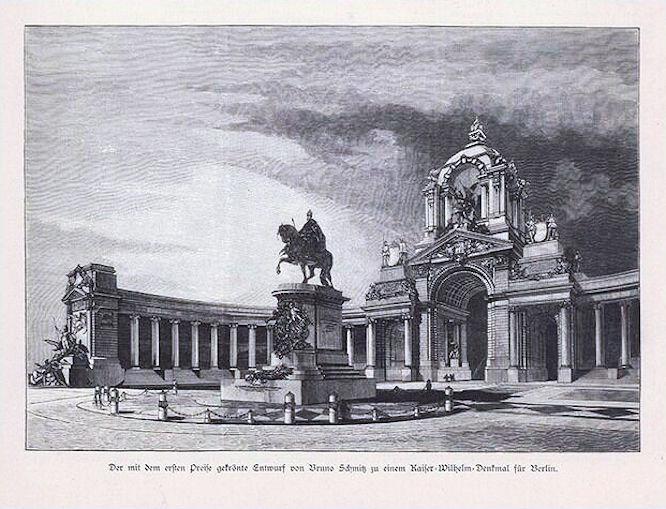 Der mit dem ersten Preis gekrönte Entwurf von Bruno Schmitz zu einem Kaiser-Wilhelm-Denkmal für Berlin.