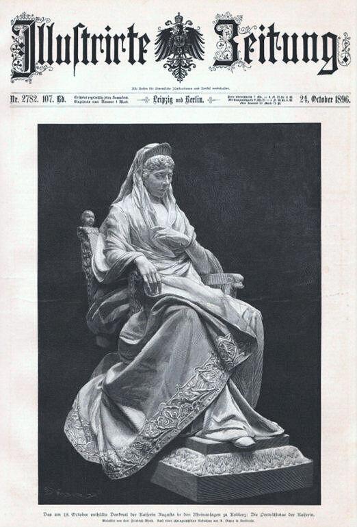 Kaiserin Augusta-Denkmal in Koblenz, Illustrierte Zeitung vom 24. Oktober 1896