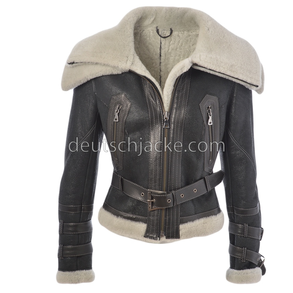 Pristine Leather Mens Bomber Rider Biker Slim Fit Casual Real Leather Jacket