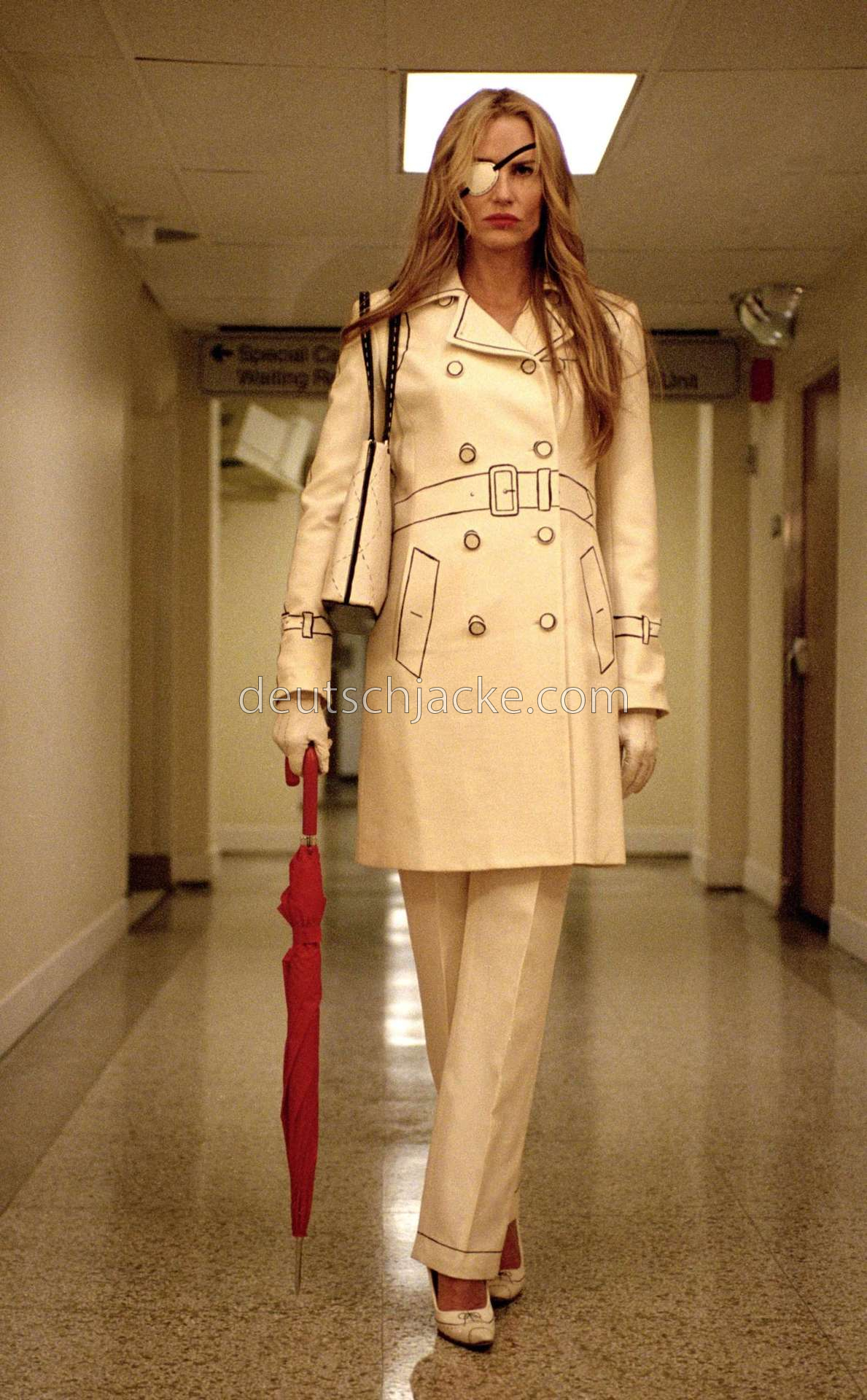 Daryl Hannah Kill Bill Elle Driver White Leather Jacket1