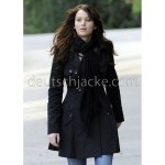 Jennifer Lawrence (Tiffany) Trench Black Coat in Silver Linings Playbook