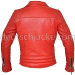 Marlon Brando Unisex Perfecto Red Motorcycle Leather Jacket1