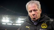 Am Ende bedient: Dortmunds Trainer Lucien Favre in Leverkusen