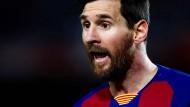 """""""Ich mache so etwas, ehrlich gesagt, nicht gerne"""": Lionel Messi übt deutliche Kritik."""