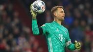 Will gegen Leipzig wieder ohne Gegentreffer bleiben: Bayern-Keeper Manuel Neuer