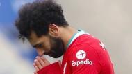 Gegen Leicester hat es nicht gereicht: Mohamed Salah und Liverpool verlieren schon wieder.