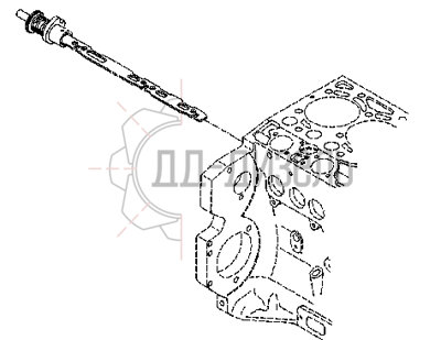 Рейка топливная двигателя Deutz BF6M1013EC. Каталожный