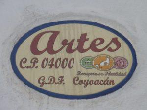 Plaque de rue - Coyoacan