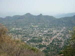 Vue Tepoztlán depuis Tepozteco - Tepoztlán
