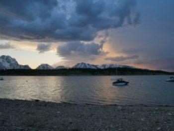 Couché soleil Signal Mountain à Grand Teton
