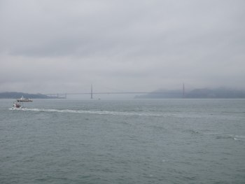 Golden Gate Bridge - vue depuis le ferry