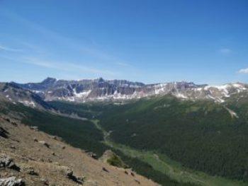 Vue sur la vallée depuis le sentier Bald Hills à Jasper