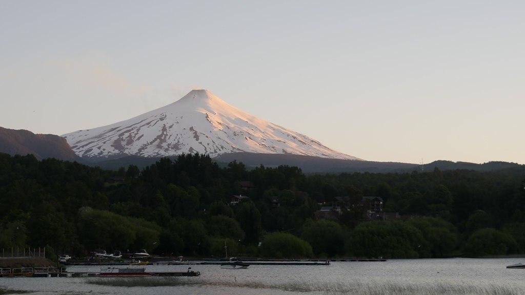 Volcan Villarica à Pucon en fin de journée